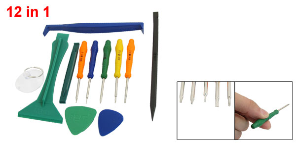 12 in 1 Screwdriver Housing Opening Pry Tool Kit Set