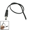 Black CCTV Camera DC 5.5 x 2.1mm Male Plug Power Cable Connector 11.4""