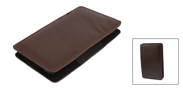 Rectangle Shaped Coffee Color Soft Faux Leather Case for 2.5
