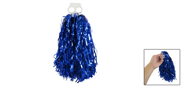 Football Youth Cheerleader Pompons Cheer Pom Poms Royal Blue Plastic