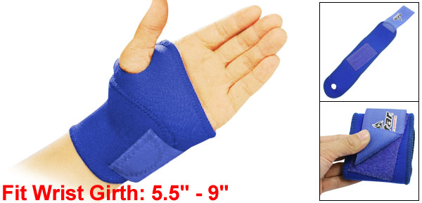 Athlete Blue Protectetive Elastic Band Wrist Support Wrap