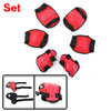 Kids Red Detachable Closure Wrist Palm Elbow Knee Support Brace S...