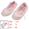 35 Light Pink Faux Leather Split Sole Canvas Dancing Ballet Flats...