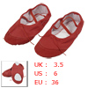 Women Split Sole Red Drawstring Top Ballet Dancing Flats Shoes EU...