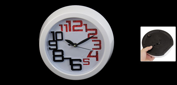White Arabic Numbers Display Wall Mounted Clock for Home