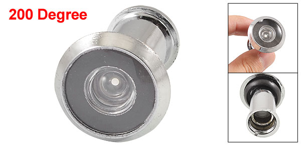 Metal Security 200 Degree Door Scope Viewer Peep Sight Hole