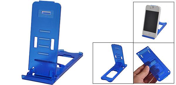 Travel Adjustable Blue Hard Plastic Stand Holder for iPad 2 3