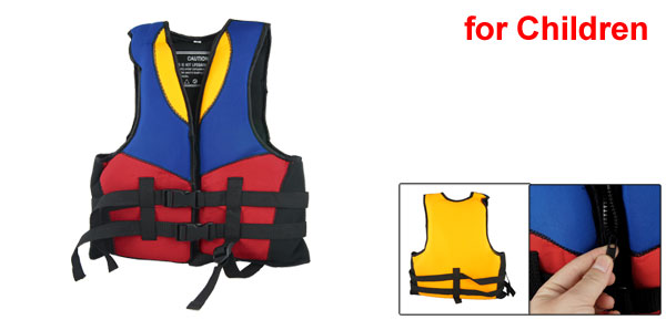 Kids Adjustable Boating Swim Snorkeling Life Vest Jacket Red Blue