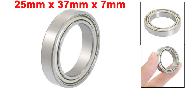 25 x 37 x 7mm 6805Z Shielded Miniature Deep Groove Radial Ball Bearing