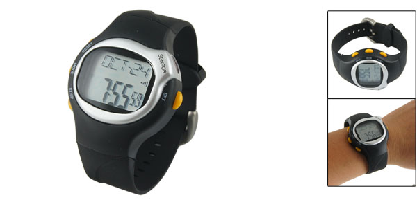 Unisex Date Week Hour Alarm Clock LCD Display Digital Sportline Watch Stopwatch