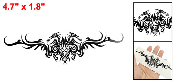 Skin Decorative Black Dragon Pattern Transfer Tribal Tattoo Beauty Sticker Sheet