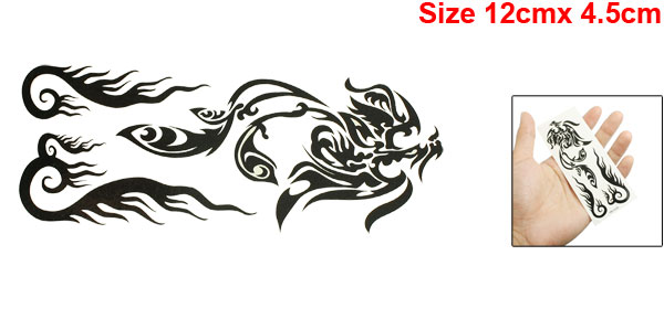 Skin Decorative Black Fish Pattern Tribal Transfer Tattoos Beauty Sticker Sheet
