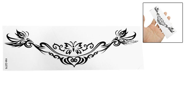 Black Butterly Pattern Temporary Water Transfer Tattoos Sticker Beauty Tool