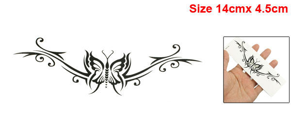 Skin Decorative Black Spiral Pattern Tribal Transfer Tattoos Beauty Sticker Sheet
