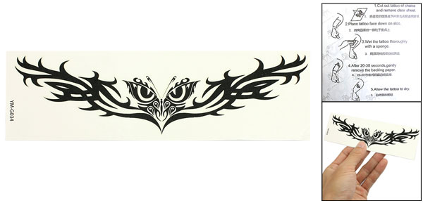 Black Butterfly Pattern Tribal Transferable Water Tattoo Seal Skin Beauty Decal