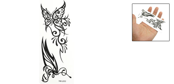 Black Butterfly Printed Temporary Water Transfer Tattoos Sticker Beauty Tool