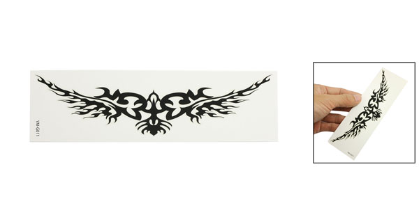 Skin Decorative Black Flame Pattern Tribal Transfer Tattoos Sticker Sheet