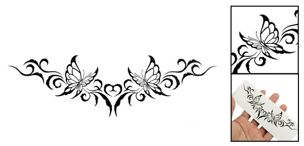 Black Butterflies Pattern Temporary Water Transfer Tattoos Sticker Beauty Tool