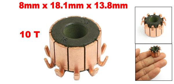 8mm x 18.1mm x 13.8mm Copper Case Auto Alternator Motor Power Tool Commutator