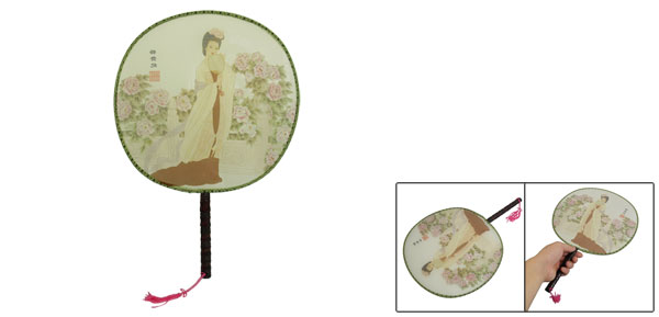 Highest-ranking Imperial Concubine Printed Wood Handle Hand Fan
