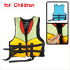Kids Adjustable Boating Swim Snorkeling Life Vest Jacket Black Yellow