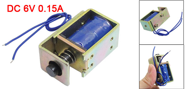 DC 6V 0.15A 7mm Stroke 30gf Force Push Type Open Frame Solenoid