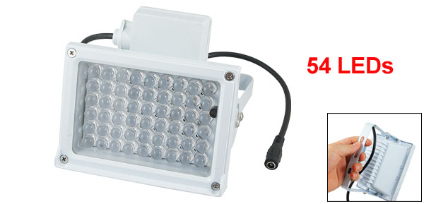 60 Degree 54 LED Video Camera Red Infrared Illuminator Lamp