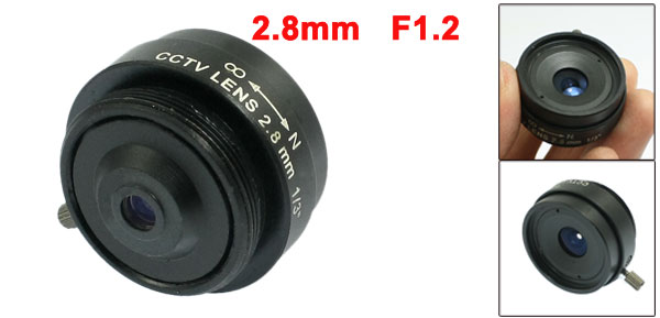 Replacement 2.8mm Fixed Iris IR Lens 1/3