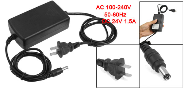 US Plug AC 100-240V 5.5 x 2.1mm Male Connector Adapter 200cm for CCTV Camera