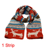 Mens Khaki Rust Reindeer Pattern Chrismas Reversible Scarf