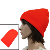 Unisex Fluorescent Orange Korea Fashion Slouchy Knit Beanie