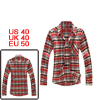 Men Red White Dark Blue New One Patch Pocket Front Shirt M
