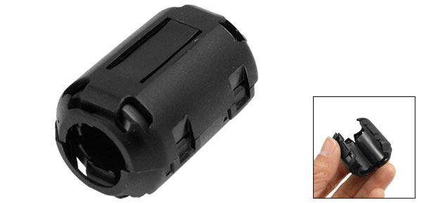 Clip-on 1330 Ferrite Ring Core Black for 13mm Diameter Cable
