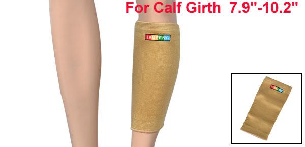 Sports Protection Light Brown Elastic Shin Splint Calf Sleeve Support