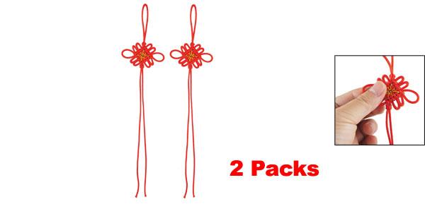 2 Packs Nylon Craft Red DIY Chinese Knot 10.8