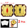 2 in 1 Man Woman Plastic Washroom Toilet Notice Sign Instruction ...