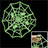 Bedroom Decor Plastic Spider Web Shape Fluorescent Stickers Green
