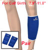 Pair Sports Protecting Ribbed Blue Elastic Shin Splint Calf Suppo...