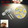 2X Warm White G4 5050 SMD 9 LED Marine Car Auto Bulb Lamp Light S...