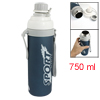 750ml Blue Stainless Steel Boby Letters Print Cylinder Thermos Mu...
