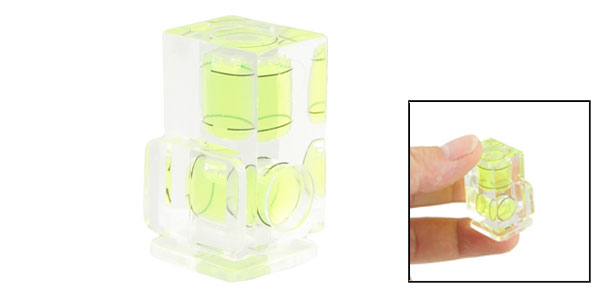 Green Clear Double Bubble Level Axis Spirit Gradienter for Camera Hot Shoe