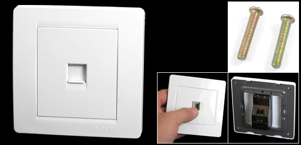 White Panel RJ11 Telephone Network Socket Single Outlet Wall Plate