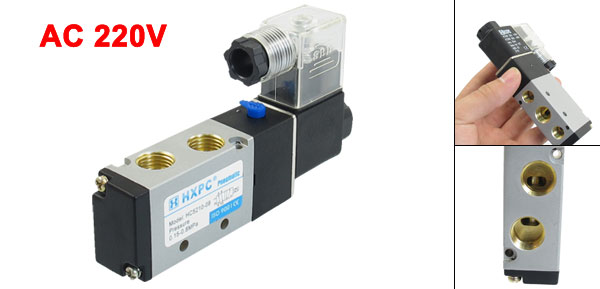HC5210-08 AC 220V Single Head Pneumatic Solenoid Valve 0.15-0.8Mpa