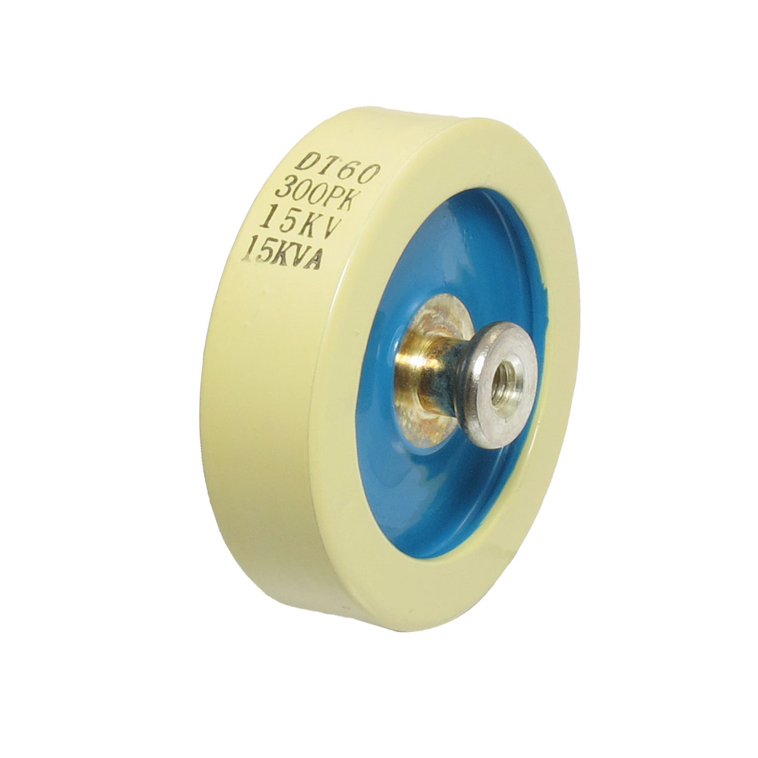 300pF-15KV-15KW-Watt-Threaded-HV-High-Voltage-Ceramic-Capacitor-Beige-Blue