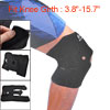Black Soft Neoprene Detachable Closure Knee Joint Support