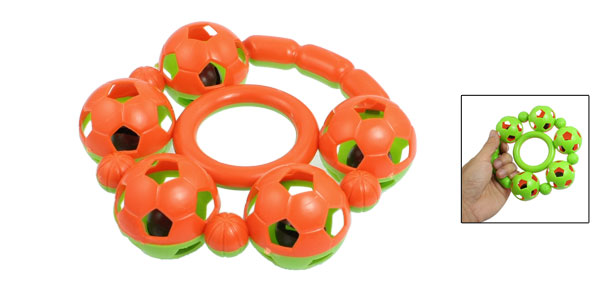 Orange Red Green Plastic Hand Shake Bells Playing Toy for Children
