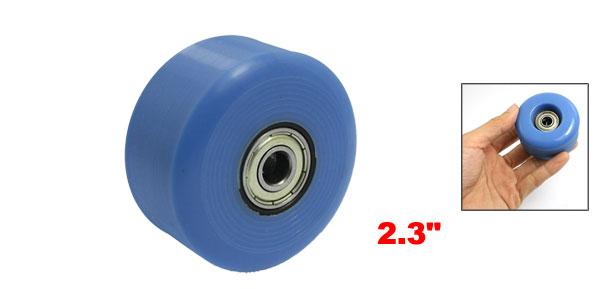 58mm OD Nonslip Skating Roller Skateboard Wheel 608ZZ Bearing Sky Blue