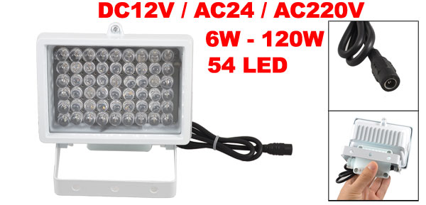 CCTV Security Camera 54 LED IR Infrared Illuminator Lamp DC 12V