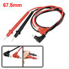 Pair 4mm Male Banana Plug Multimeter Test Lead Probe Cable 28.7""