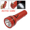 Camping Rechargeable 2 Modes 2 Pin US Plug LED Flashlight Red AC ...
